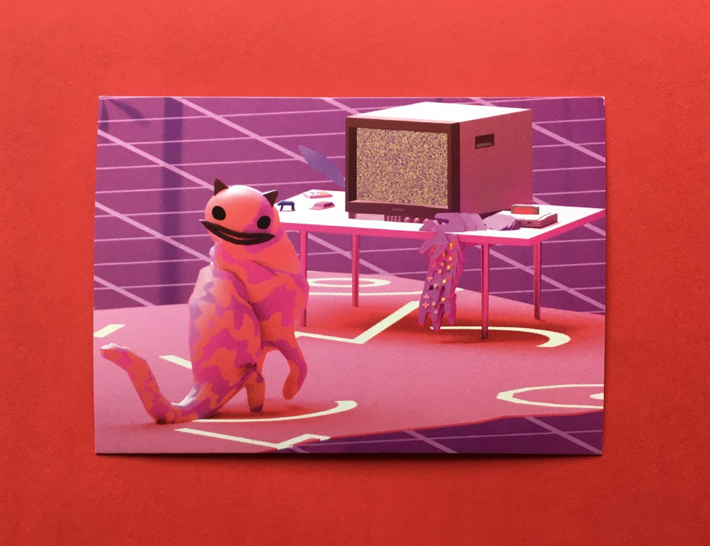 """Image of """"Don't get stuck on the screen"""" – Postcard"""