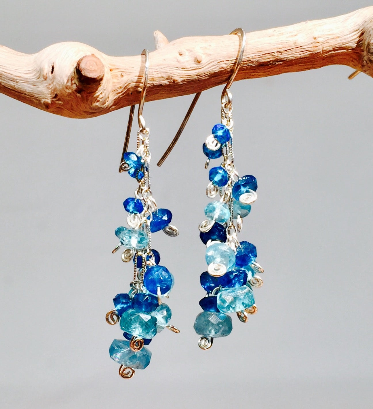 Image of Gemstone Spray Earrings