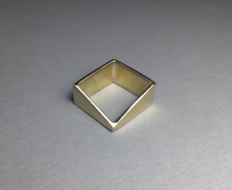 Brass Square Cut out