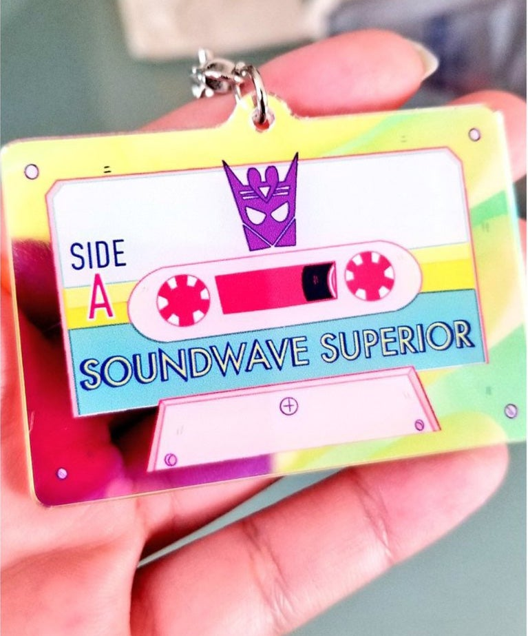 Image of SOUNDWAVE HOLO KEYCHAIN SET!