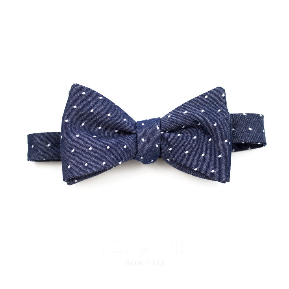 Image of Indigo Dot Bow Tie