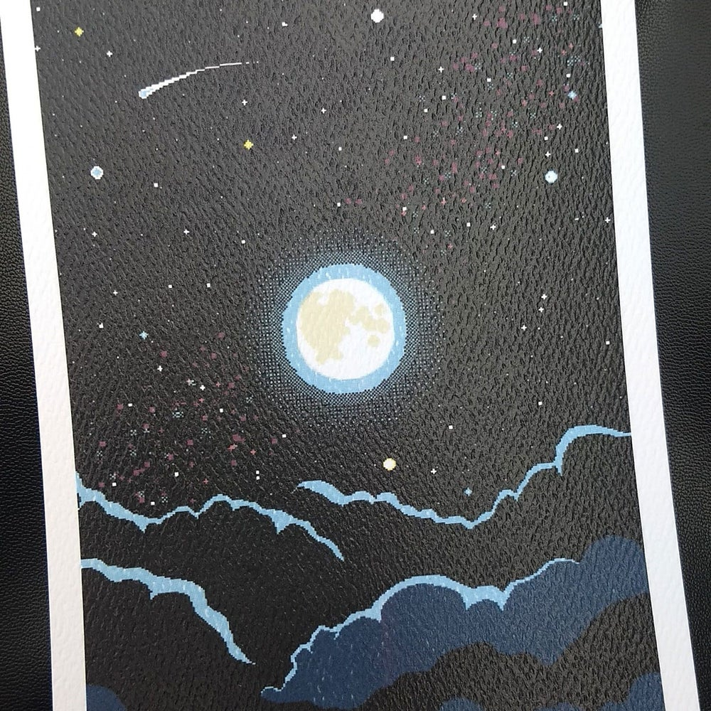 Image of Full Moon Pixel Art Print