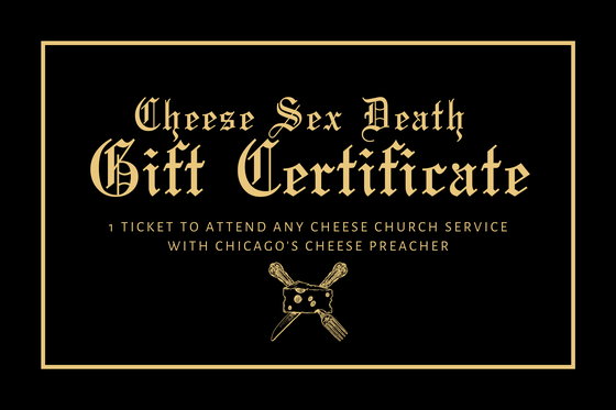 Image of Cheese Church Party Gift Certificate