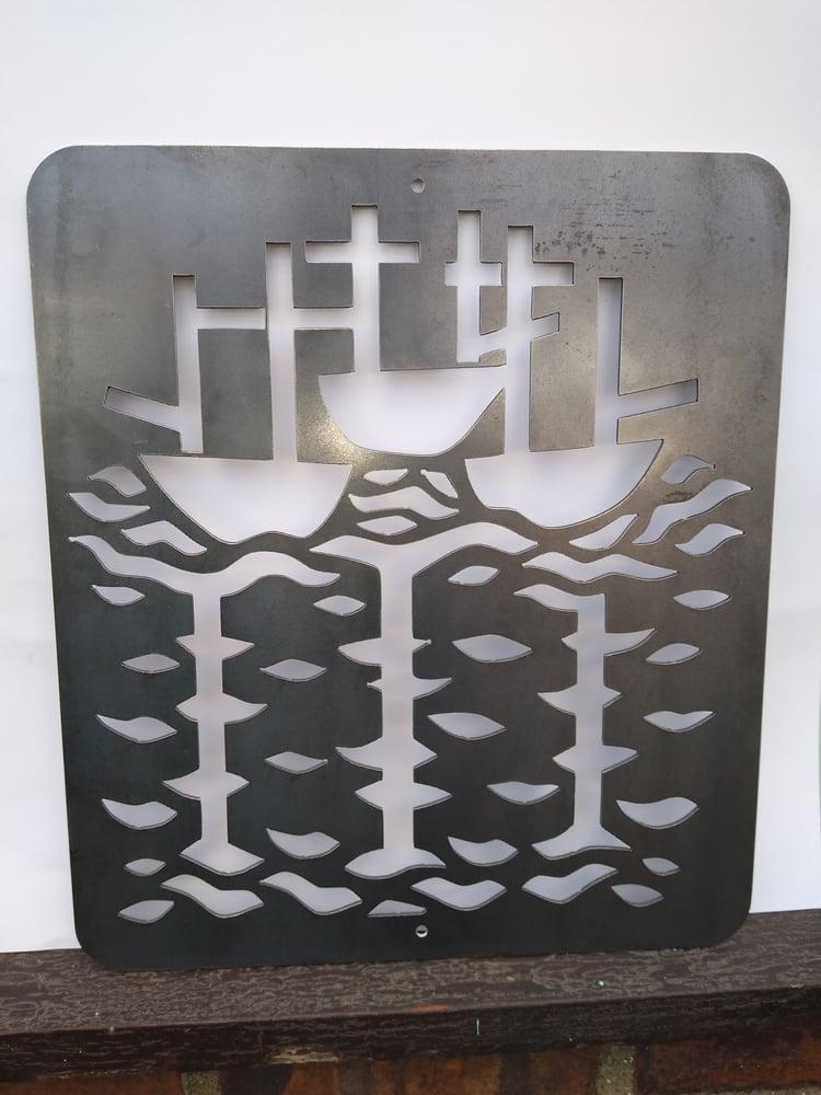 Image of 3 SHIPS METAL ART
