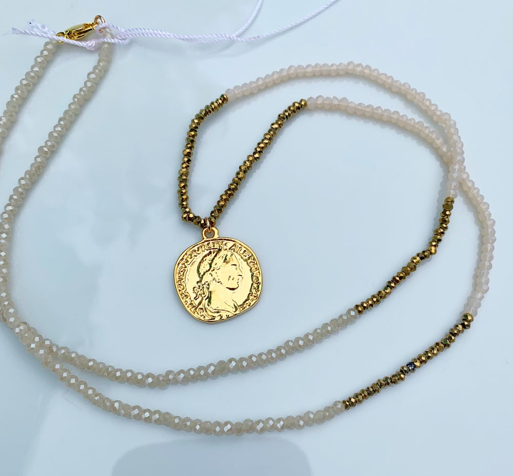Image of Greek coin necklace