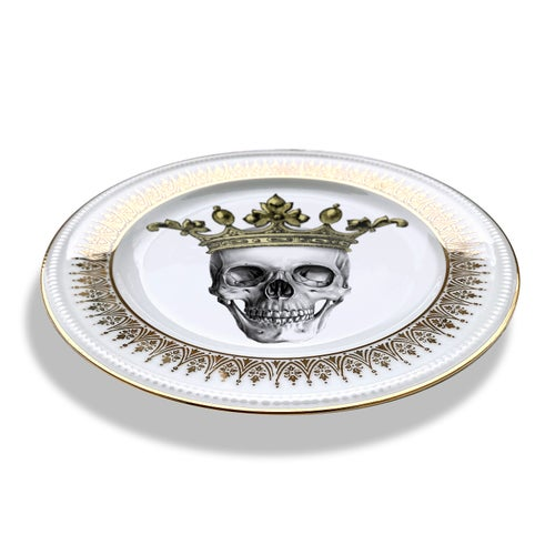 Image of Skeletor King - Vintage Porcelain Plate - #0717