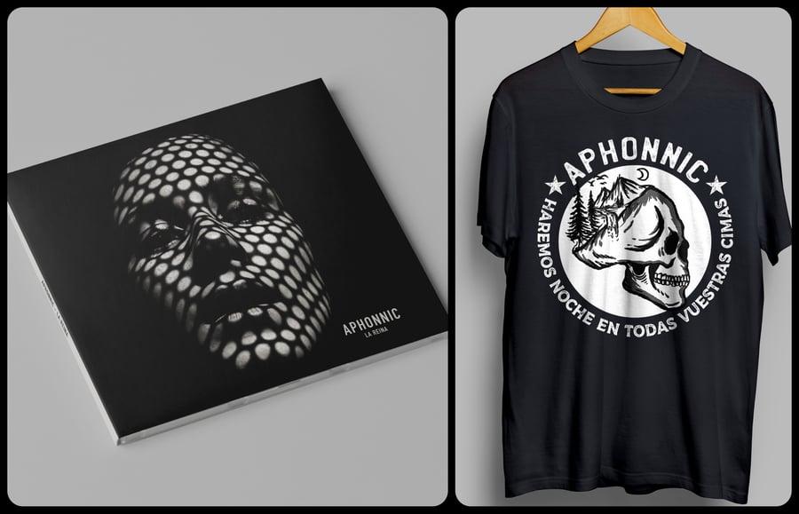 "Image of Pack - CD ""La Reina"" + Camiseta ""En todas vuestras cimas"""