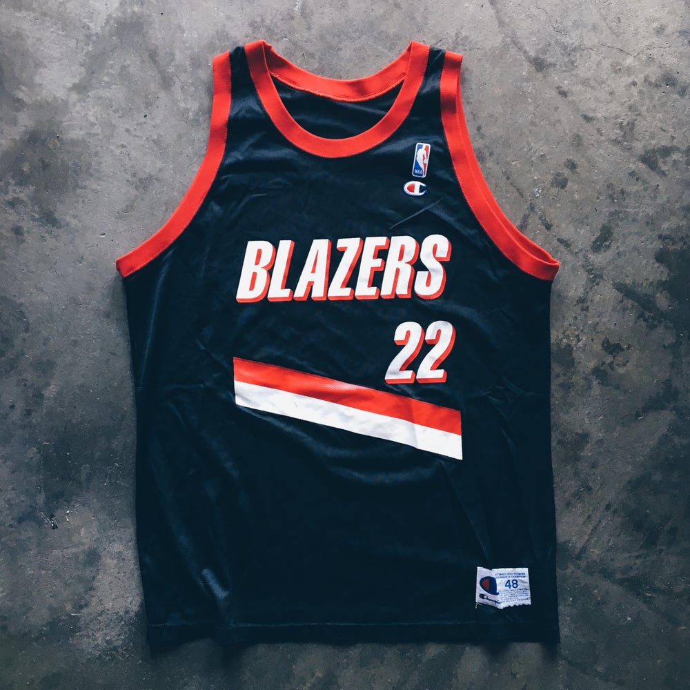 Image of Original 90's Terry Porter Champion Blazers Jersey.