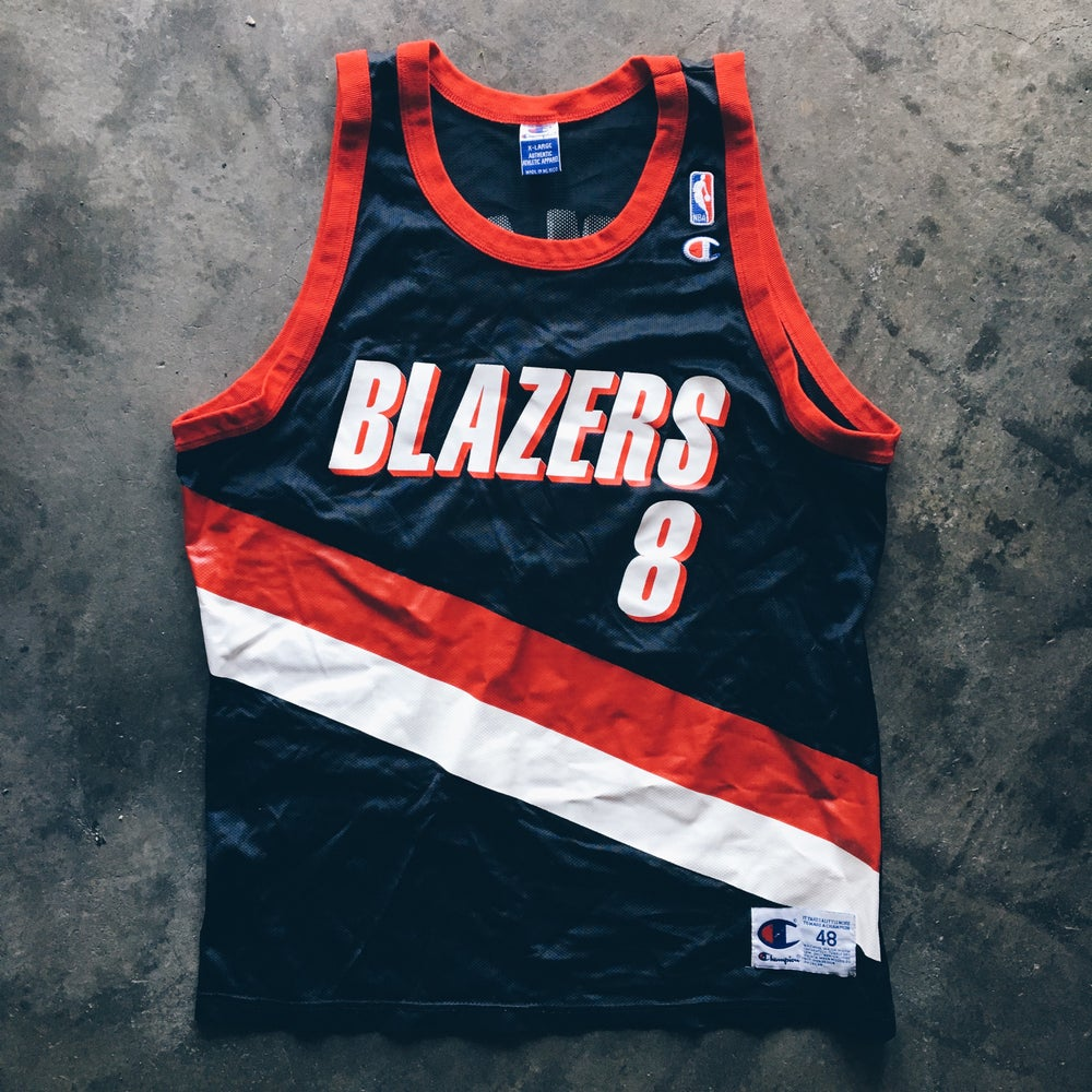 Image of Original 90's Steve Smith Champion Blazers Jersey.