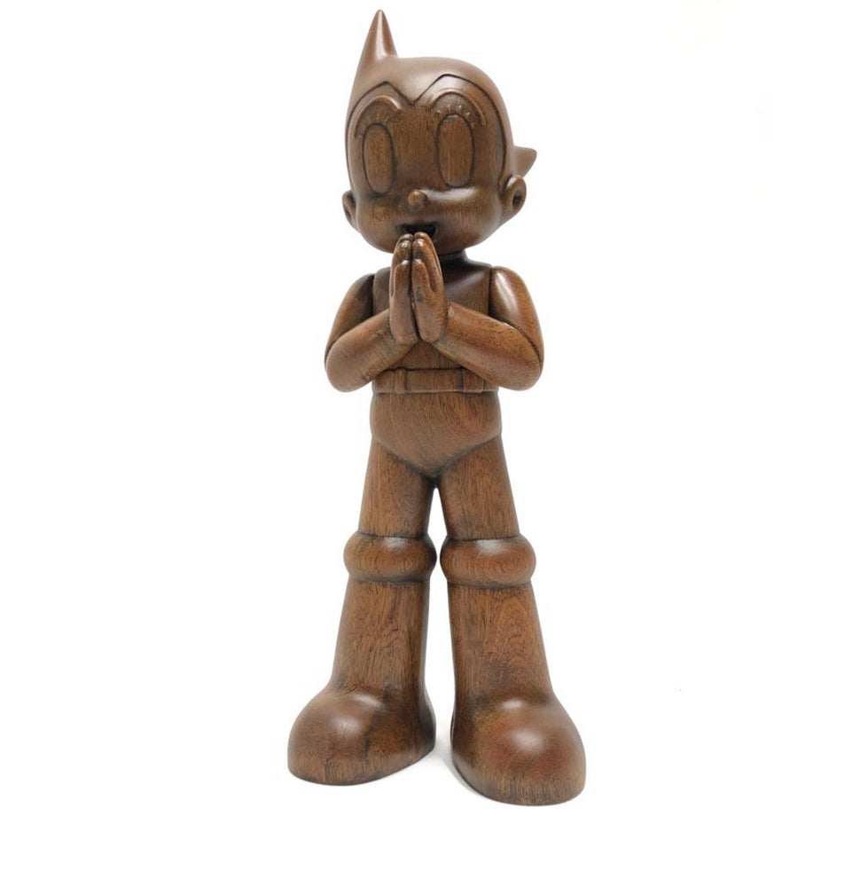 Image of Astro Boy Greeting TOYQUBE Wooden Version