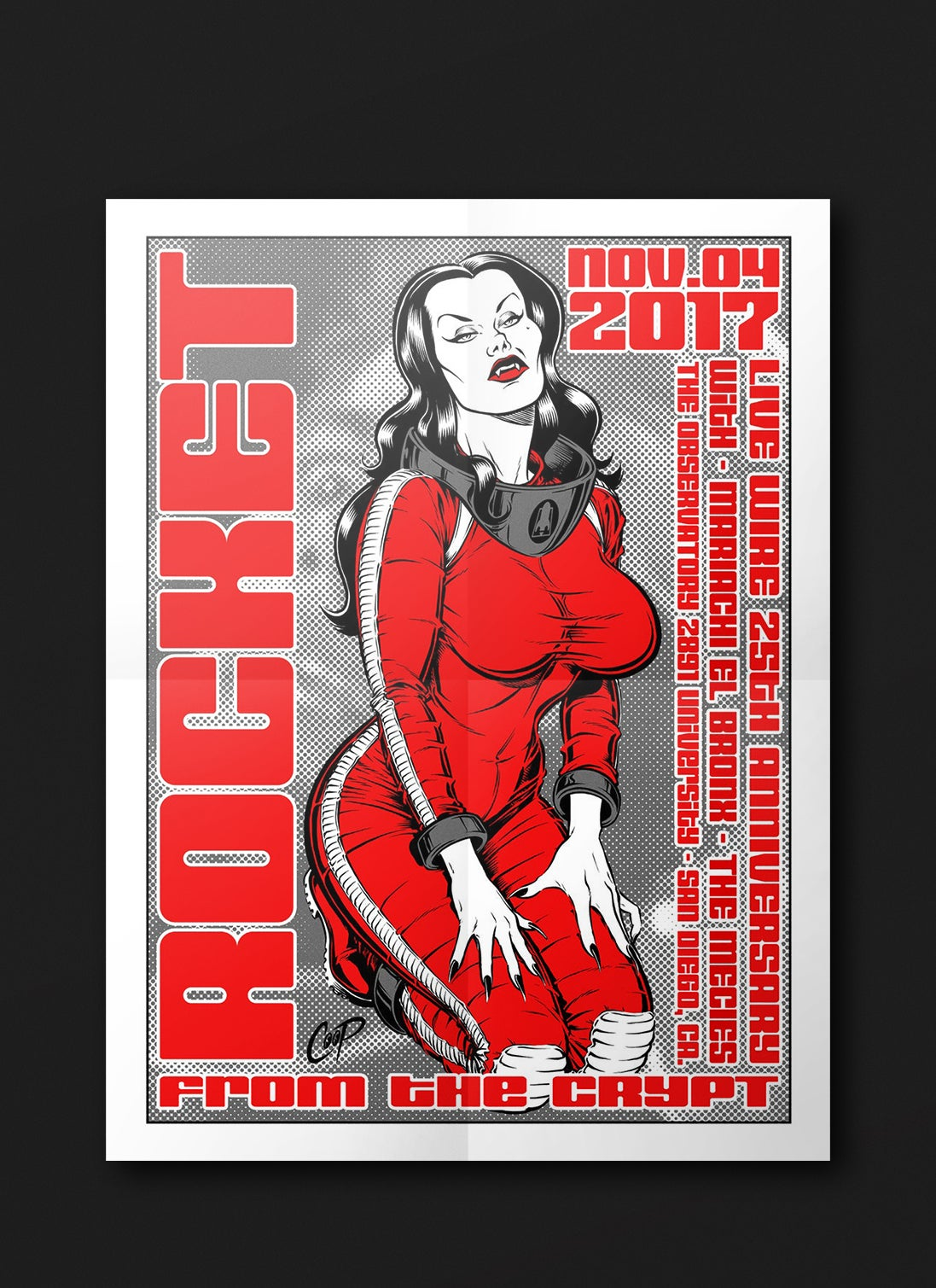 Live Wire, 25th Anniversary Poster