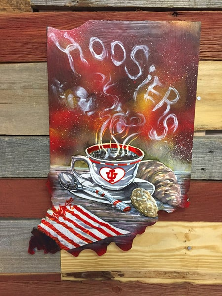 Image of Hoosier Coffee (Hand painted reproduction)