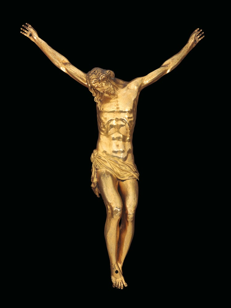Image of A gilt bronze crucifix by Guglielmo della Porta and workshop, ca. 1570-75