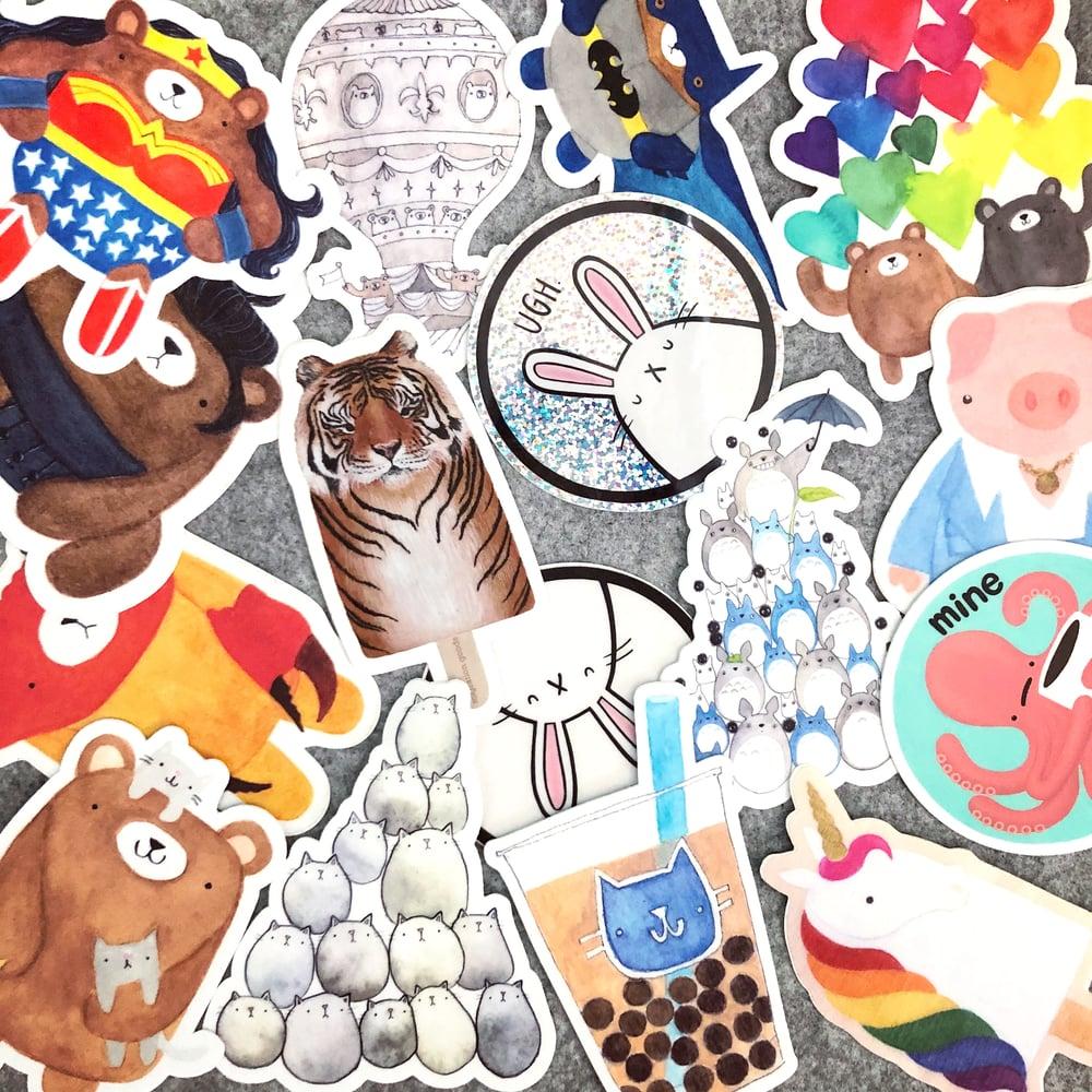 Image of happy sticker bundle