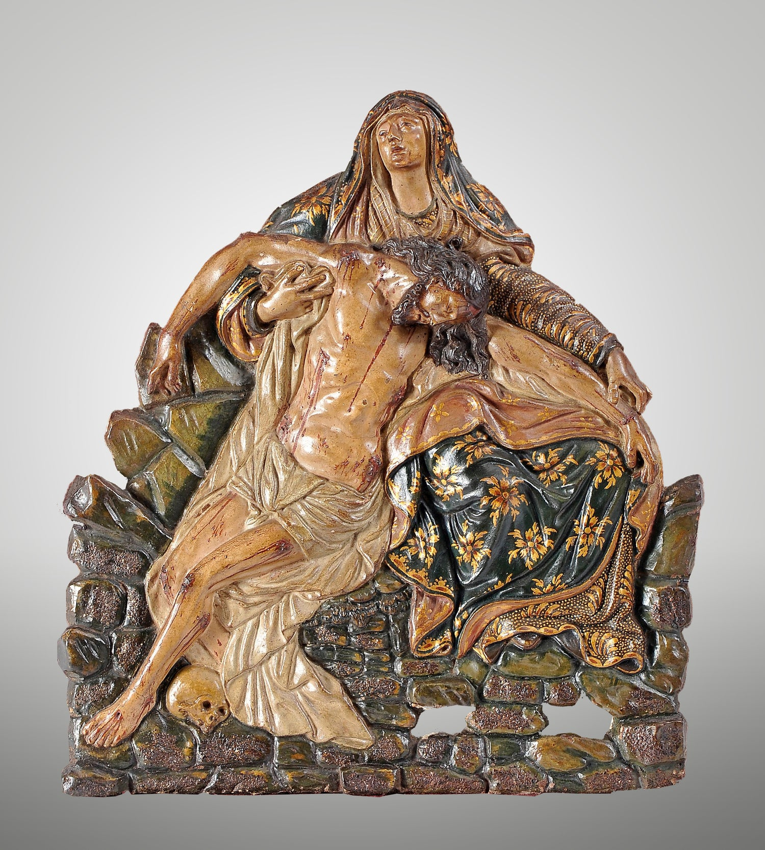 Image of Polychrome terracotta altarpiece of the Pieta, 18th cent.