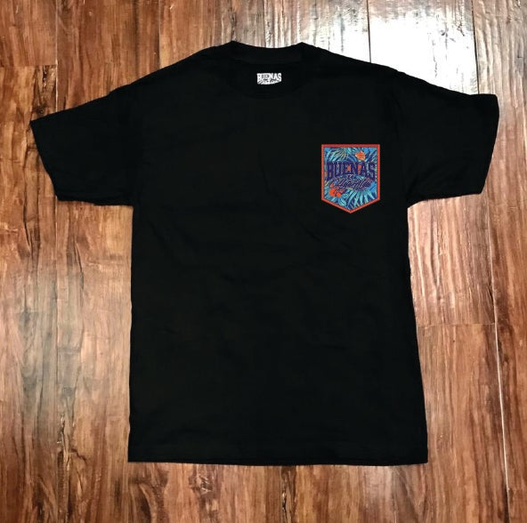 Image of BHA BLUE/RED HIBISCUS POCKET TEE