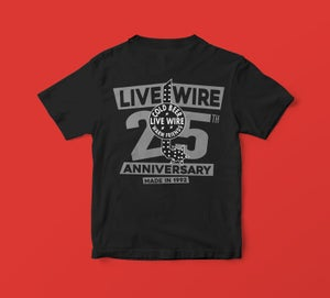 25th Anniversary Shirt, Silver Print