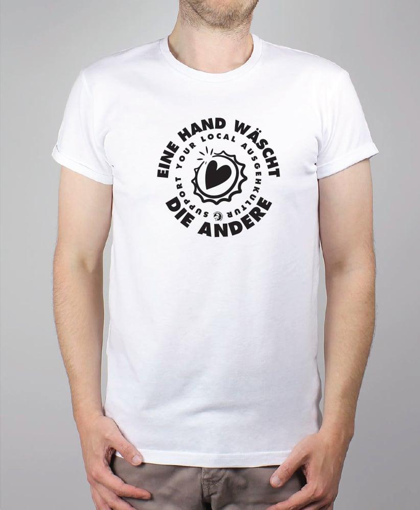Clubverstärker United - Soli Shirt- Unisex (Weiß) / Fairtrade
