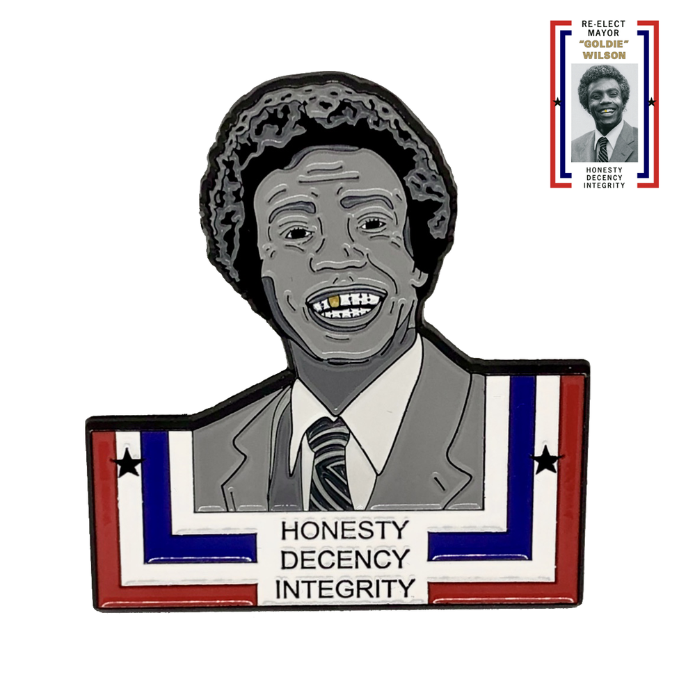 Image of BTTF - Mayor Goldie Wilson Pin (Limited Edition /100)