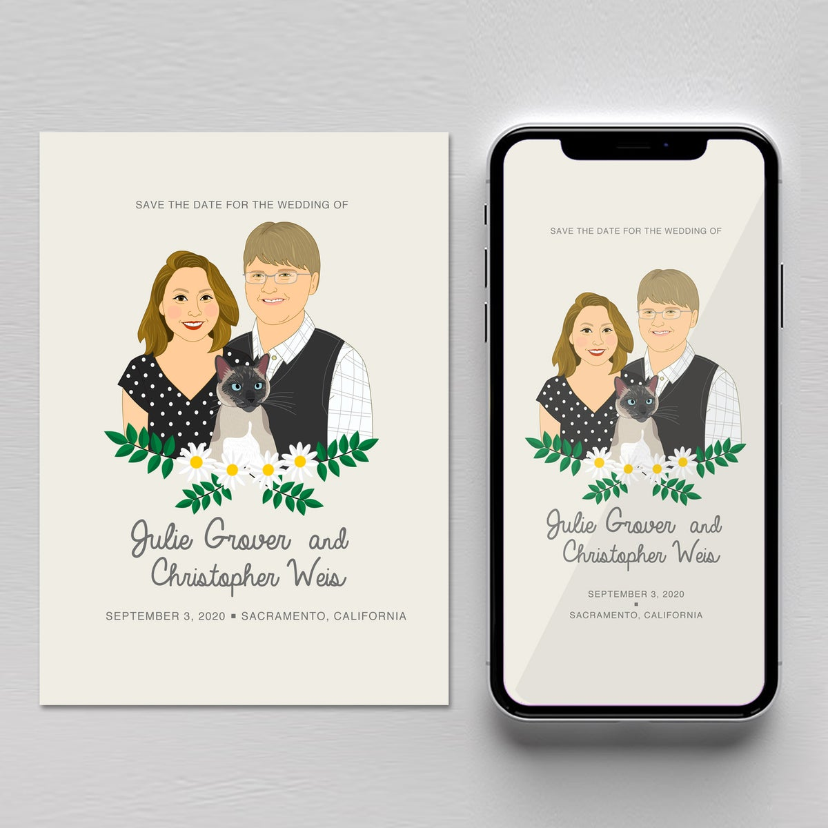 Image of Eco friendly save the date.