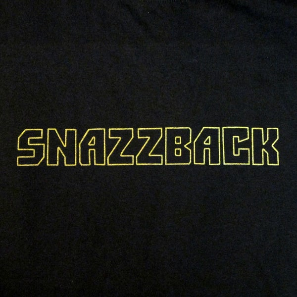 Image of Snazzback Classic T-Shirt (gold on black)