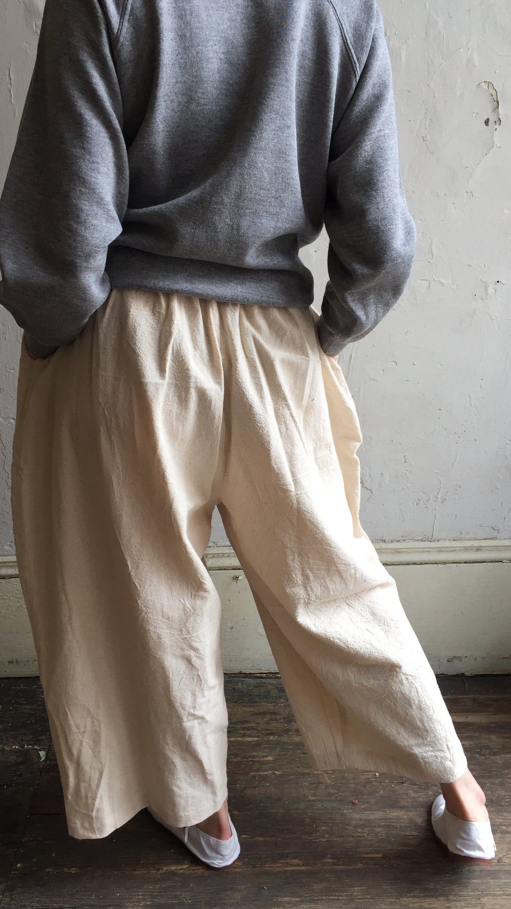 Image of Wide Leg Woven Trouser