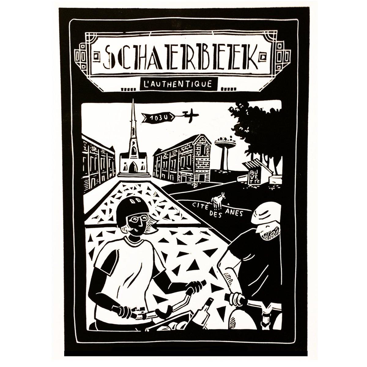 Linogravure Schaerbeek