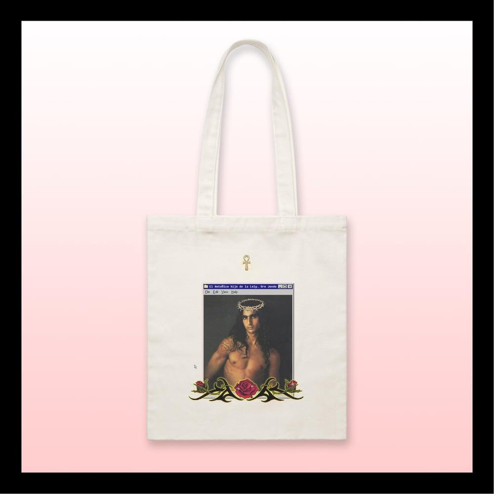 """Image of Tote bag """"Antonio Flores hijo de Dios"""""""