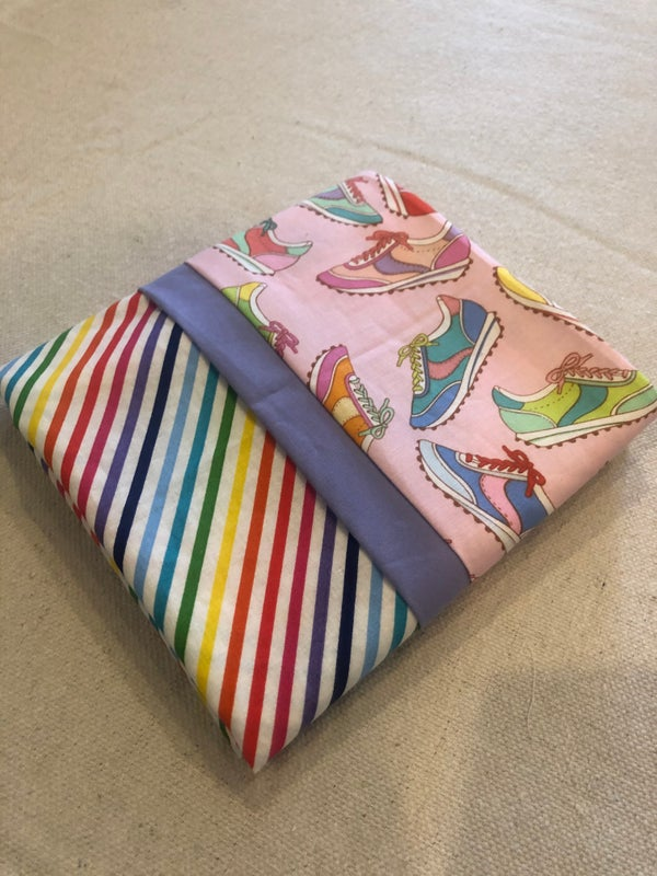 Image of Rainbow and sneakers pillowcase