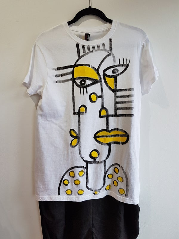 Image of #4 hand-painted cotton t-shirt