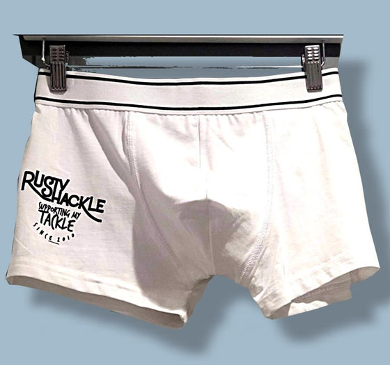 "Image of Boxer Shorts - ""Supporting my Tackle"""