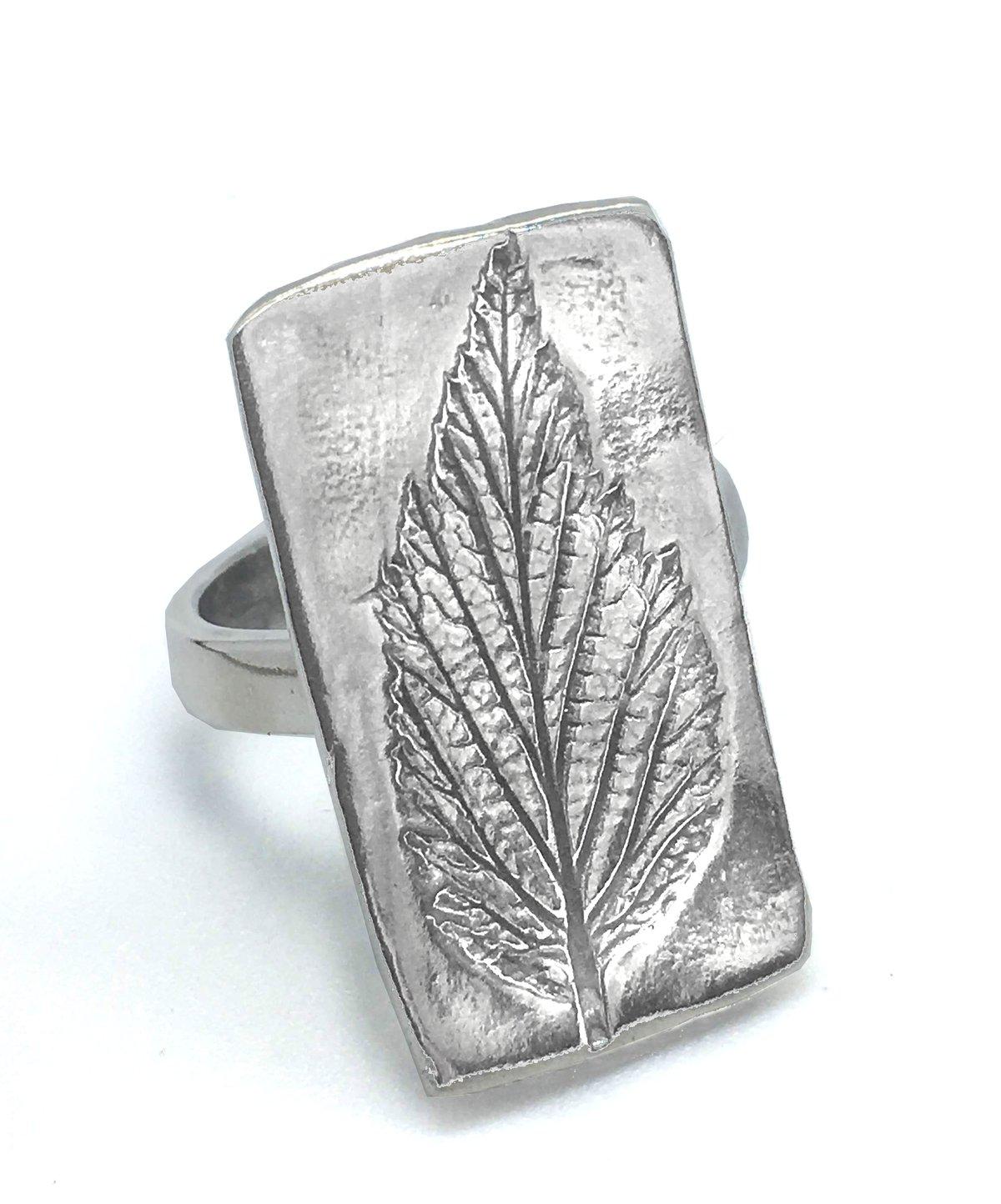 Image of Leaf Imprint Ring