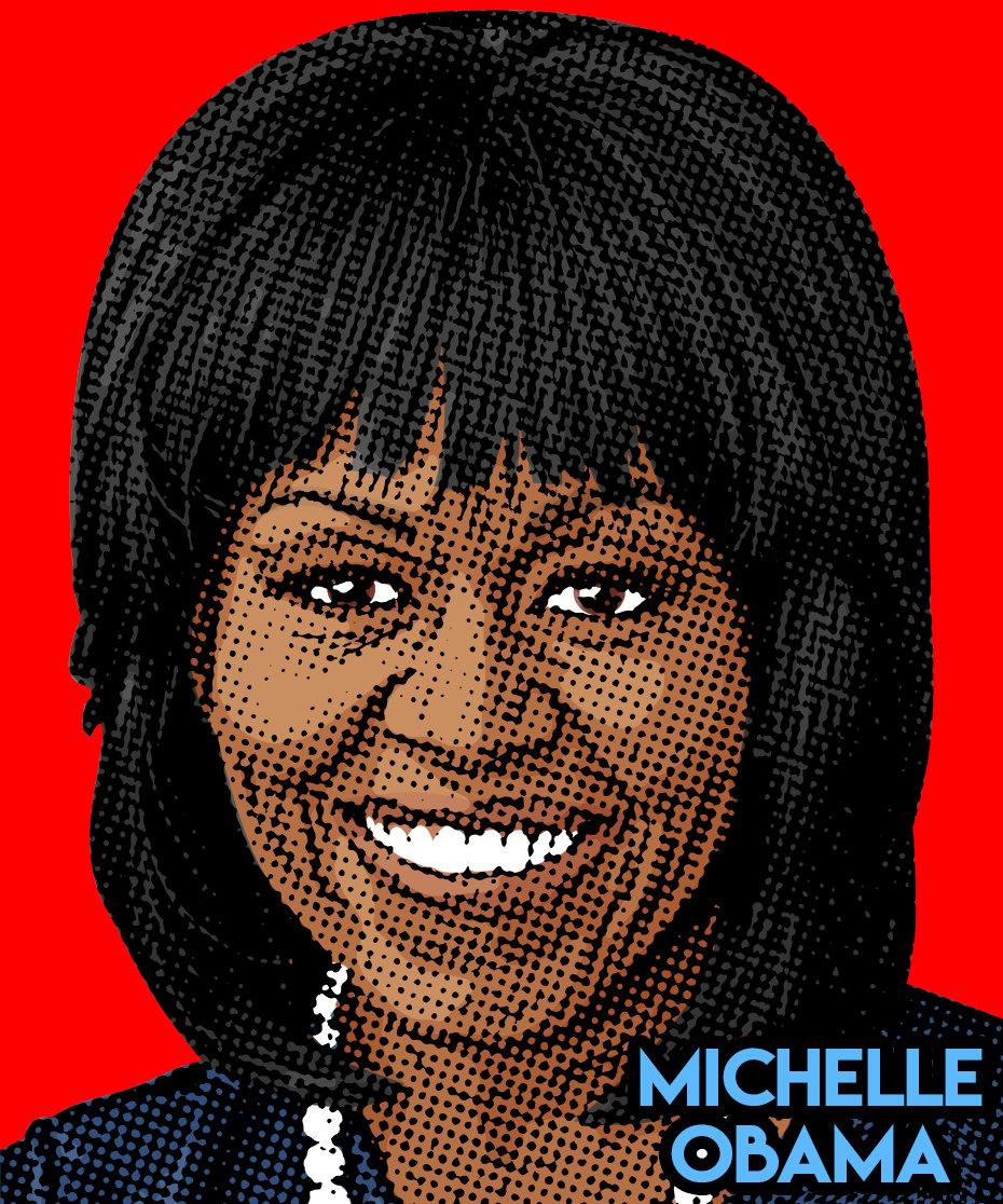 Image of Michelle Obama Sticker