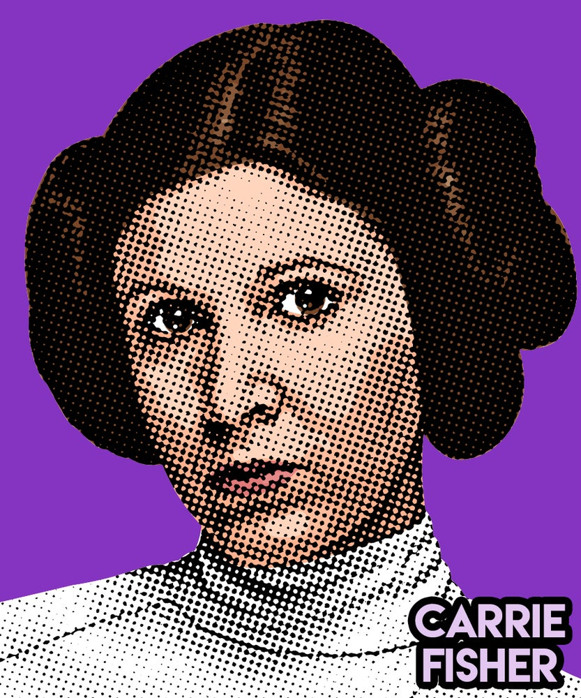 Image of Carrie Fisher Sticker