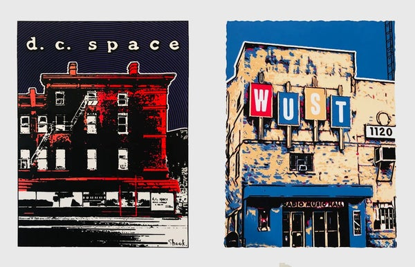 Image of DC Space and WUST Music Hall Print Set