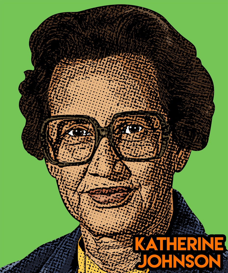Image of Katherine Johnson Sticker