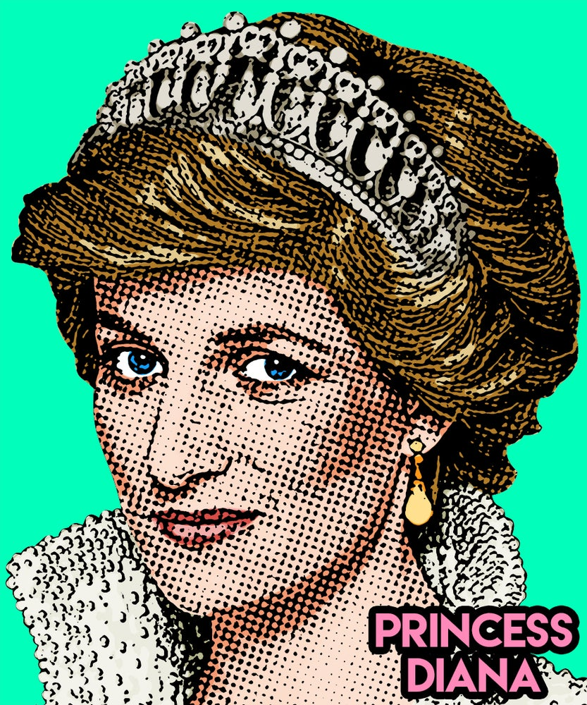 Image of Princess Diana Sticker