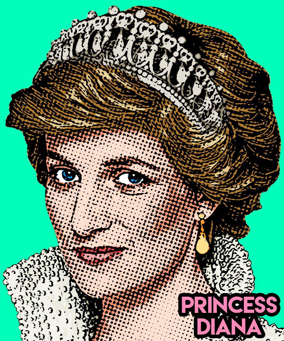 Image of Princess Diana Sticker