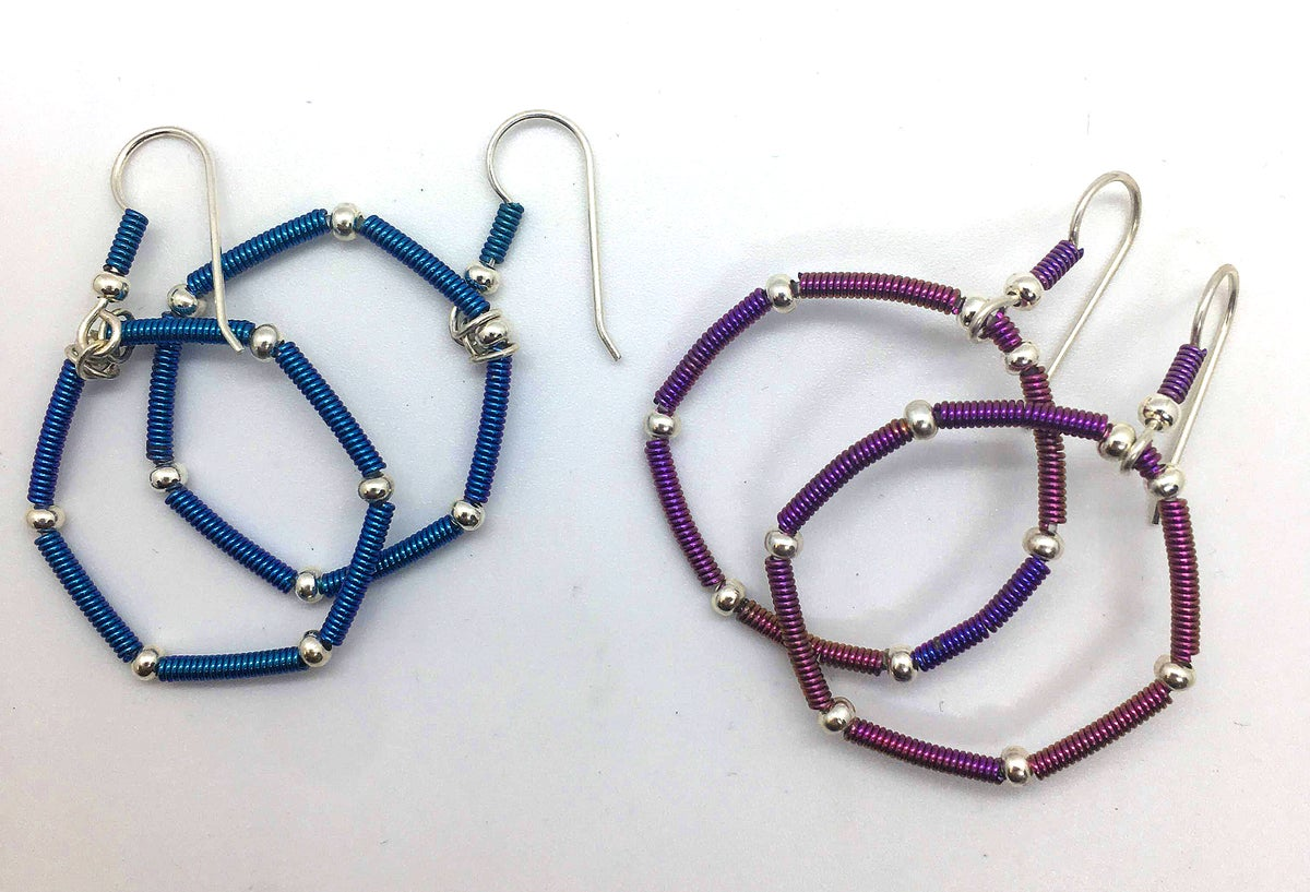 Image of Niobium and sterling earrings