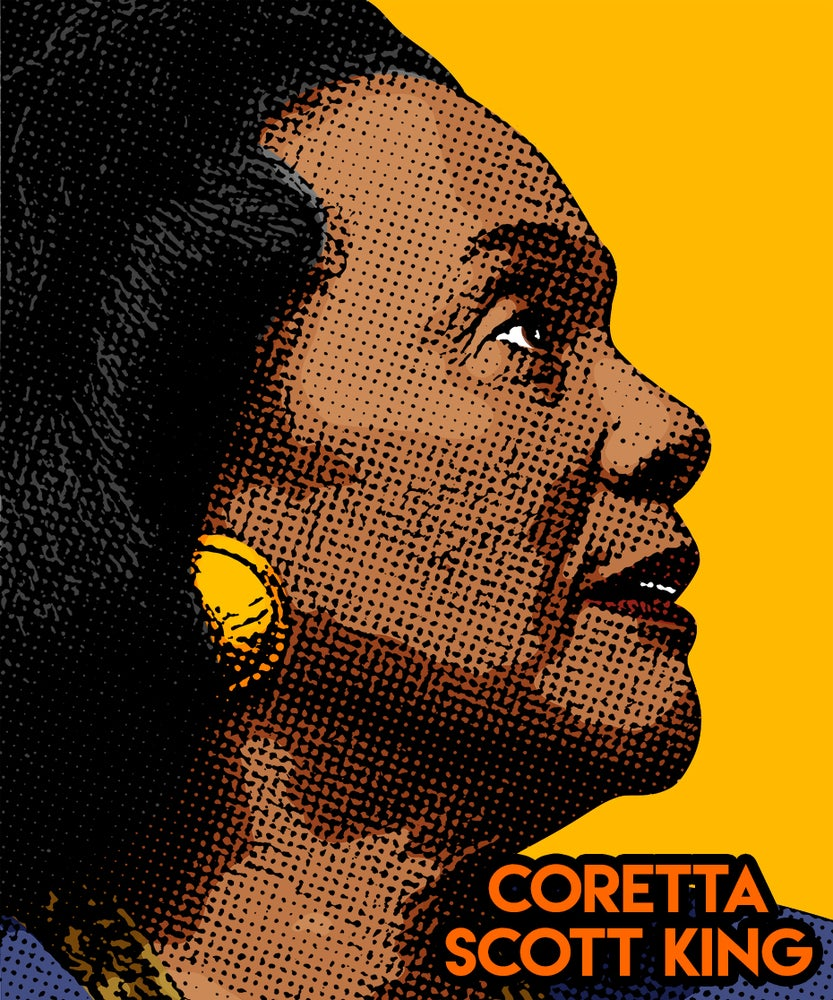 Image of Coretta Scott King Sticker