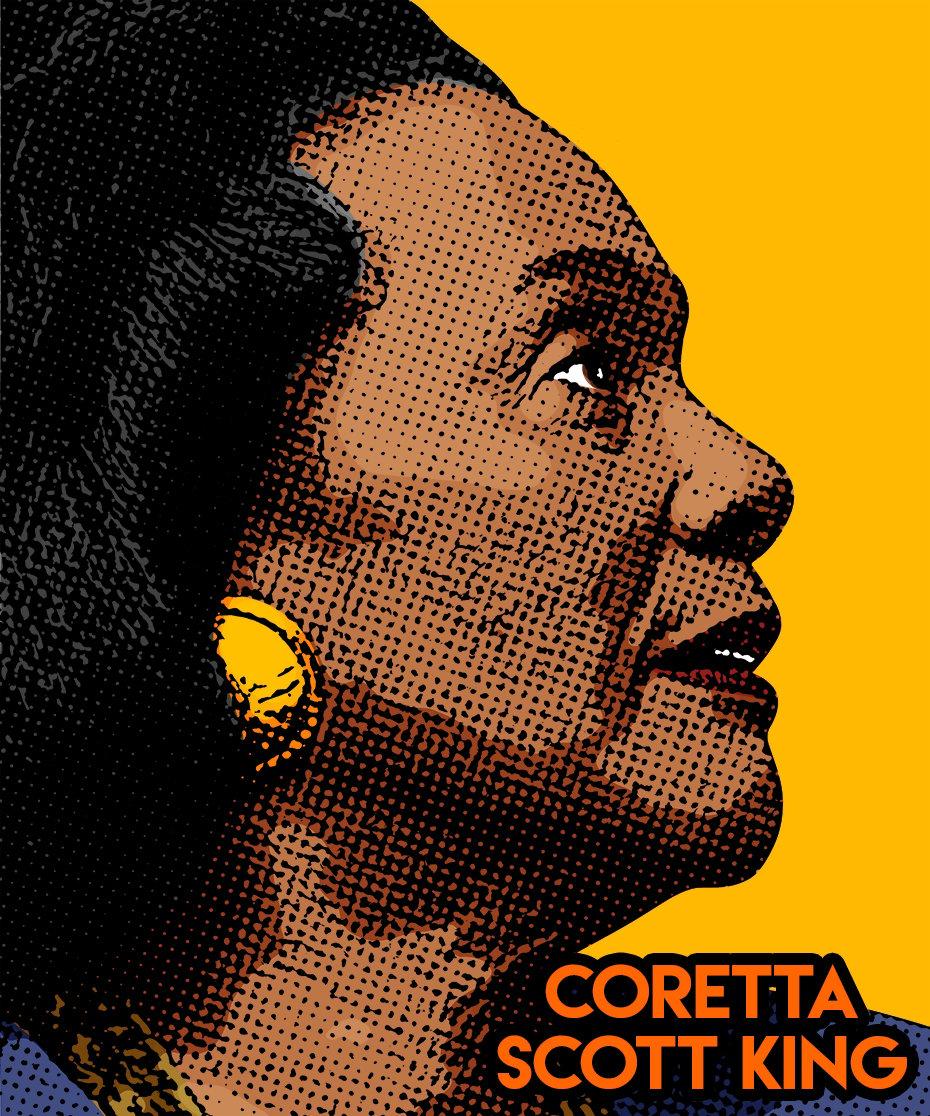 Image of Coretta Scott King Sticker