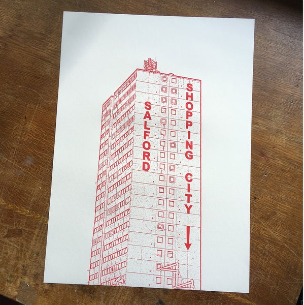 Image of Salford Shopping City screenprint
