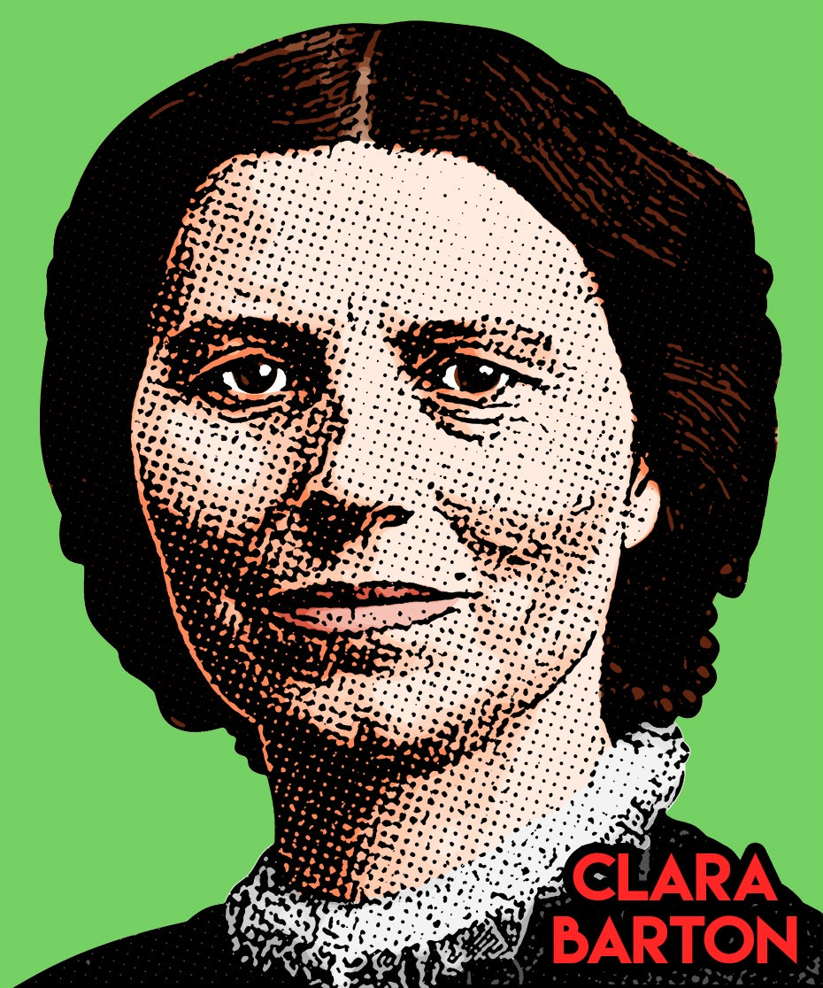 Image of Clara Barton Sticker