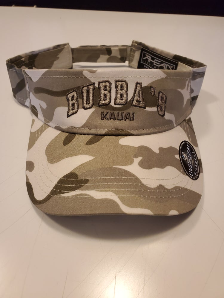 Image of GREY & WHITE CAMO VISOR