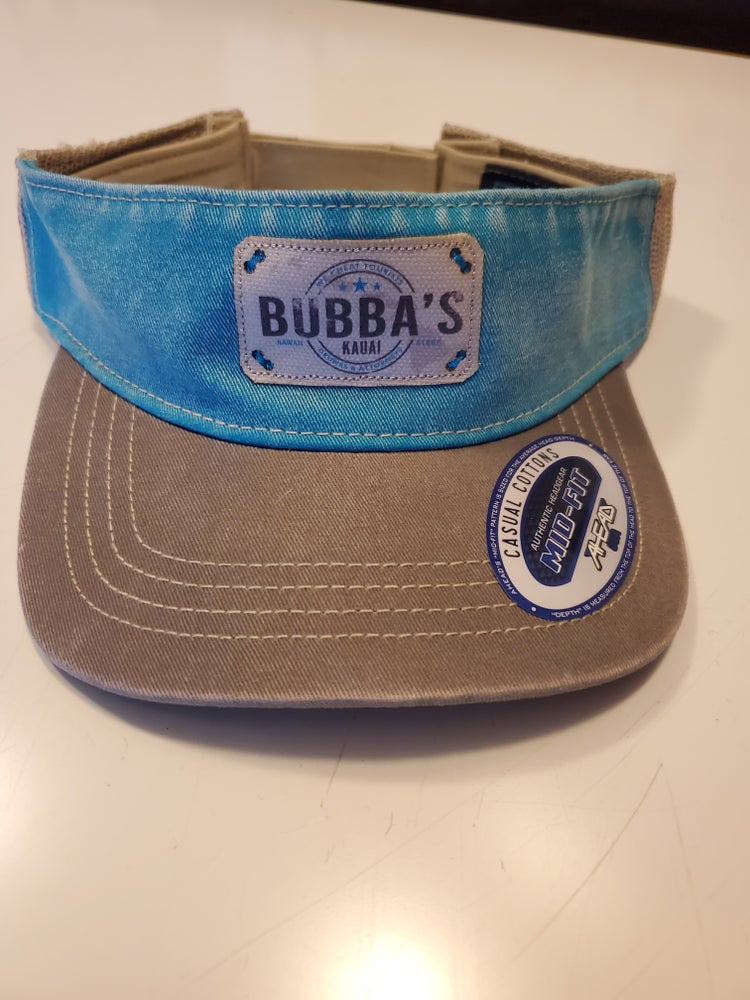 Image of LIGHT BLUE & GREY VISOR w/ patch