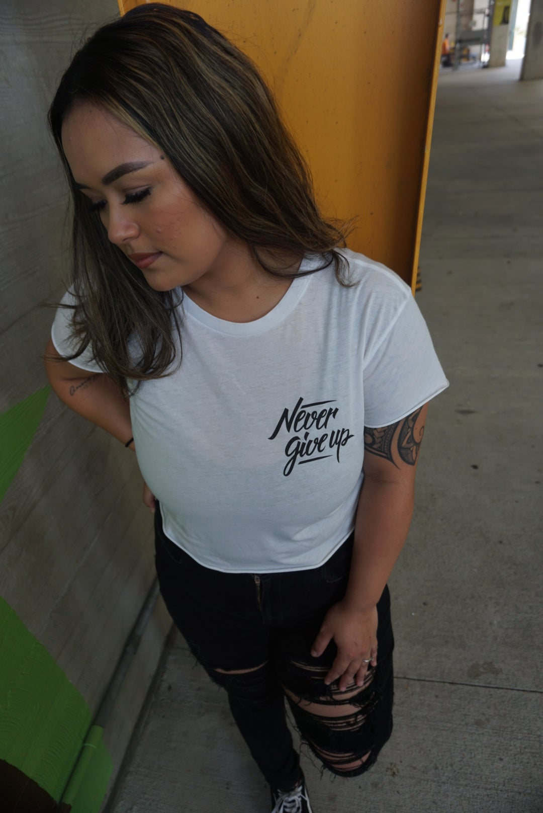 Image of Never Give Up Crop Top
