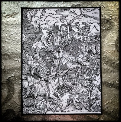 Image of Four Horsemen back patch