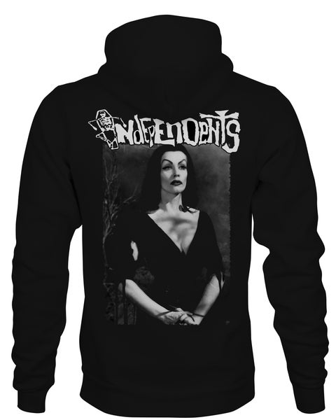 Image of The Independents Vampira  Zip Up Hoodie