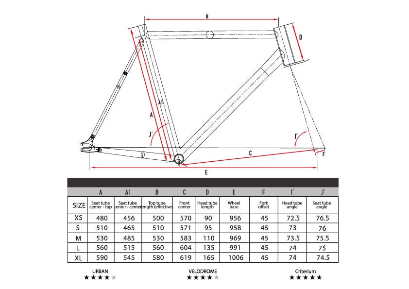 Image of 2020 CritD track frameset in Blue Red color way.