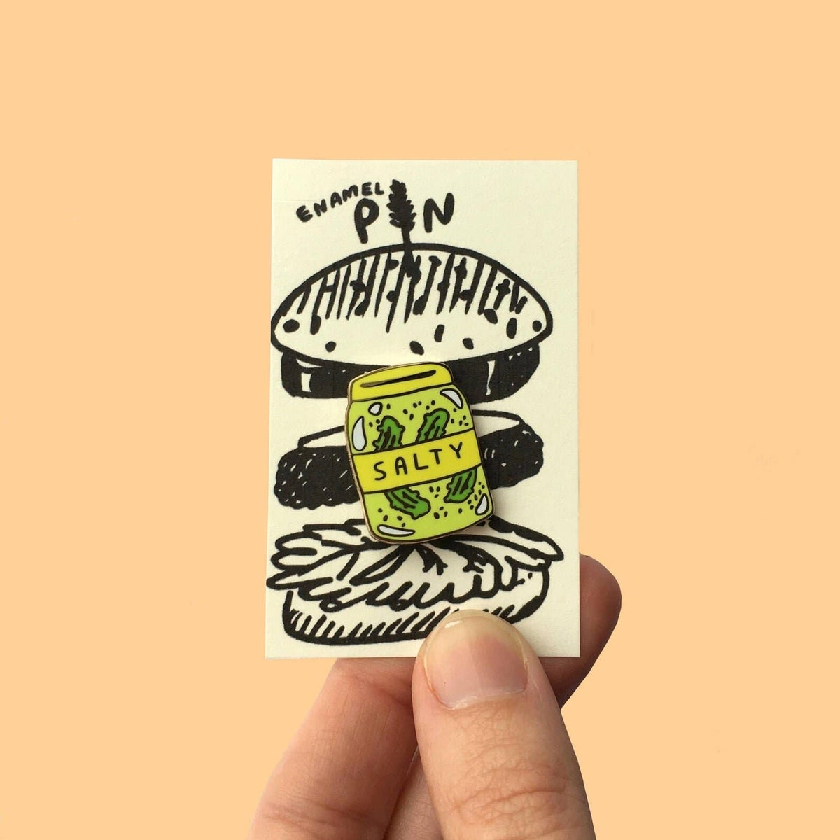 Image of Crunch Supply Salty Pickle Jar Pin